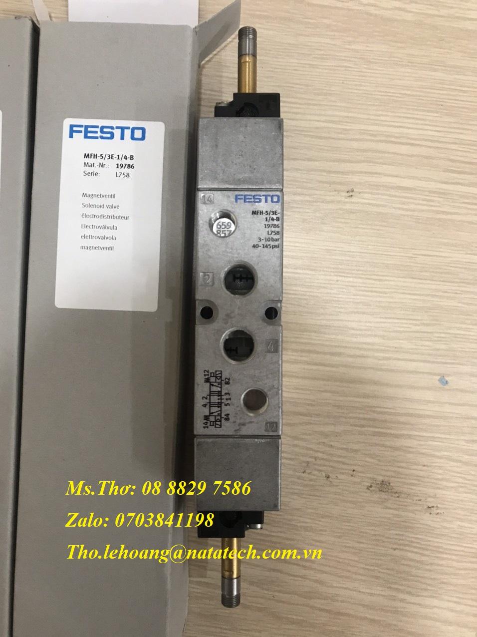 1 Van điện từ Festo MFH-5/3E-1/4-B - 19786 - CTy TNHH Natatech