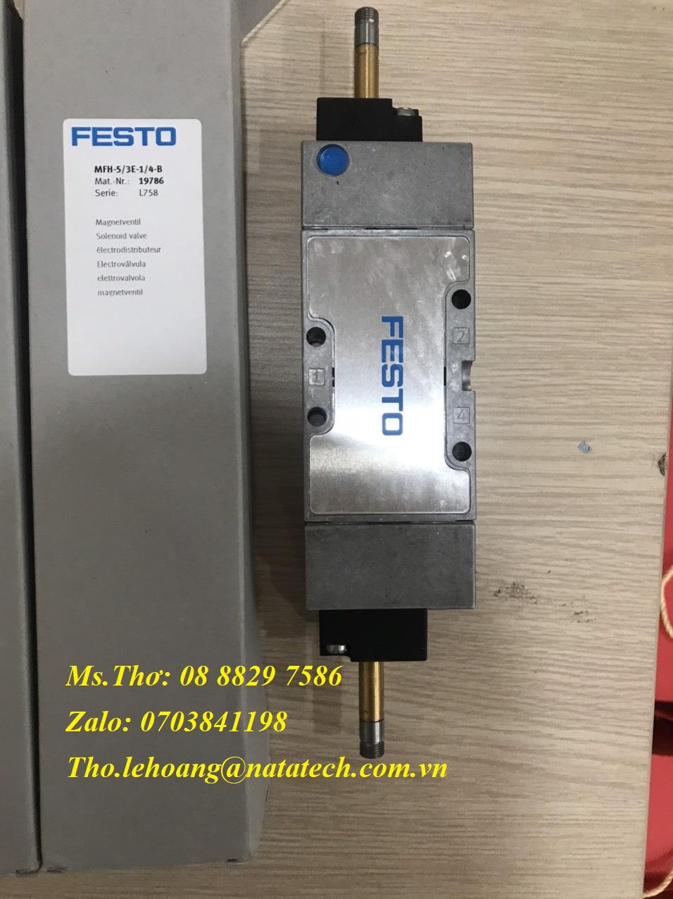 3 Van điện từ Festo MFH-5/3E-1/4-B - 19786 - CTy TNHH Natatech