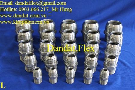 1 Đầu nối inox - Phụ kiện inox - Đầu nối cho Ống mềm inox - Khớp nối mềm inox