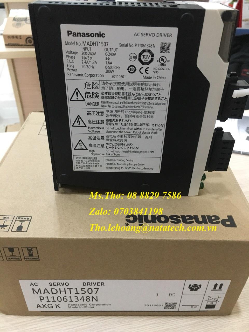Ac servo driver Panasonic MADHT1507 - Công Ty TNHH Natatech
