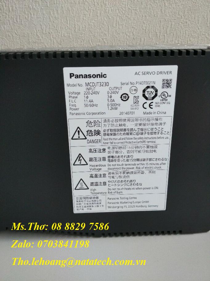 2 Bộ điều khiển servo Panasonic MCDJT3230 - Công Ty TNHH Natatech