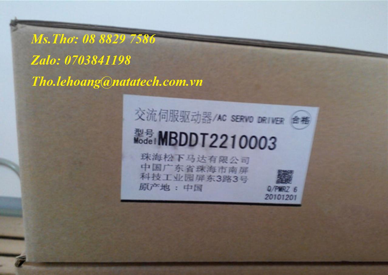 4 Bộ điều khiển servo Panasonic MBDDT2210003 - Cty TNHH Natatech
