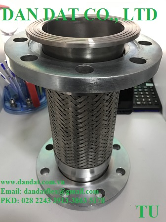 3 Hàng mẫu 2020 ống mềm inox có bọc PJ chống cháykhớp co giãn inoxkhớp nối mềm lắp bích