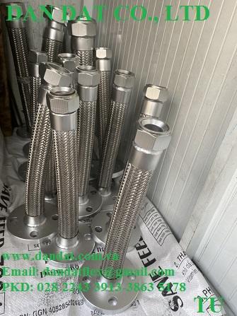 7 Hàng mẫu 2020 ống mềm inox có bọc PJ chống cháykhớp co giãn inoxkhớp nối mềm lắp bích