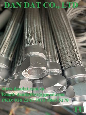 8 Hàng mẫu 2020 ống mềm inox có bọc PJ chống cháykhớp co giãn inoxkhớp nối mềm lắp bích