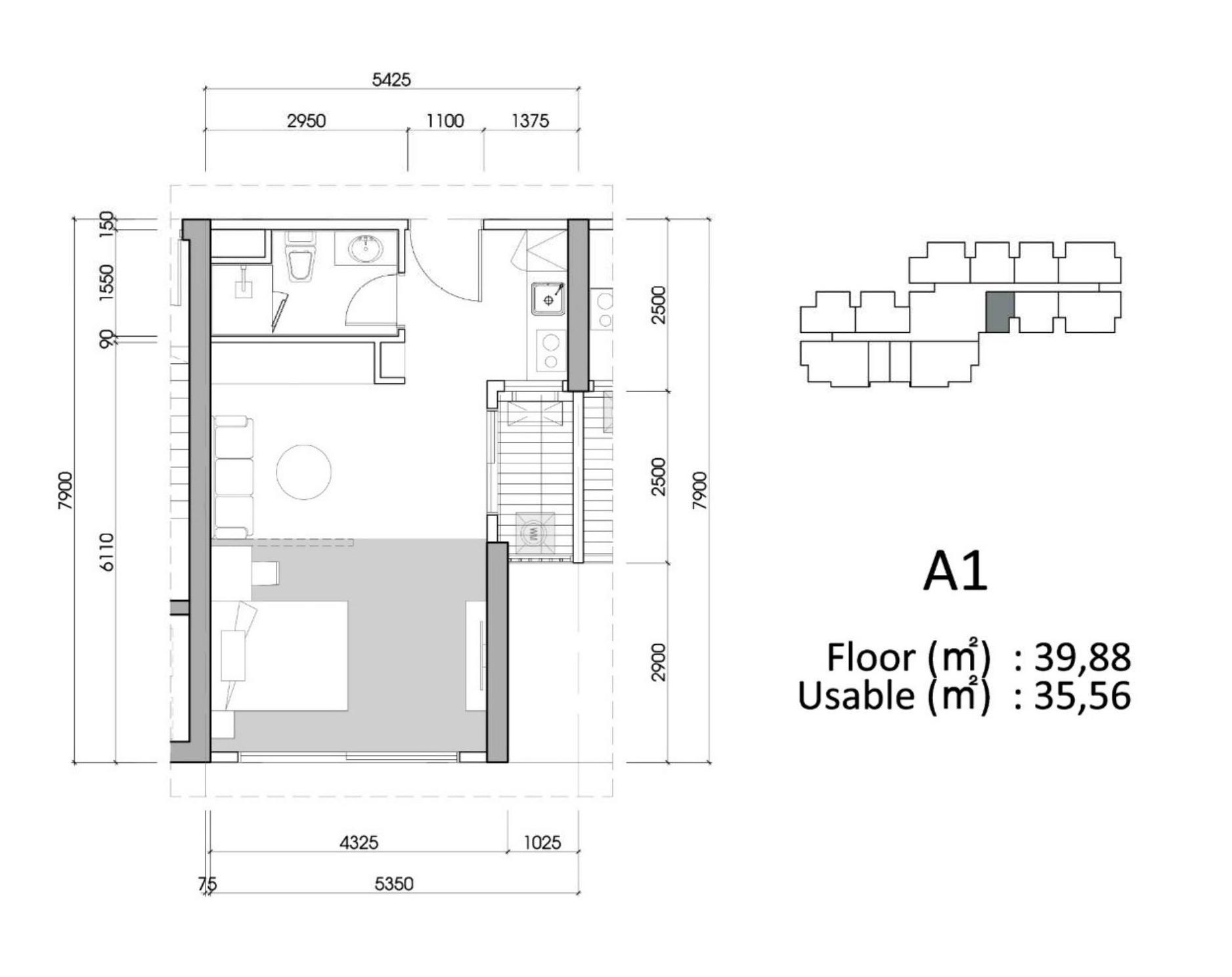 3 Căn hộ Studio Chung cư Sky Oasis