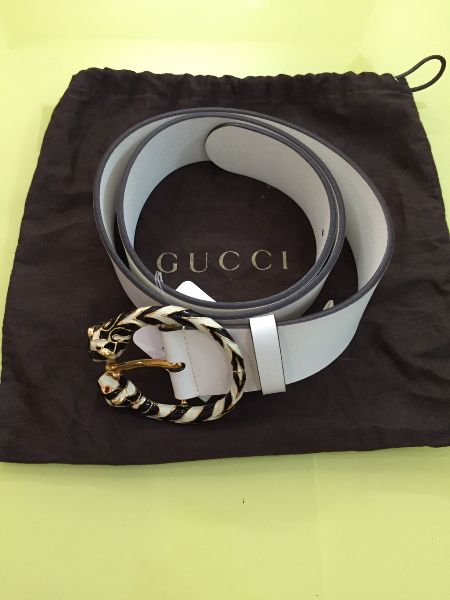 2 Thắt lưng GUCCI White authentic italy new 100. .