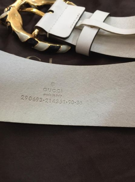 3 Thắt lưng GUCCI White authentic italy new 100. .