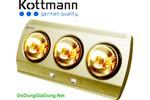 Đèn sưởi nhà tắm Kottmann 3 bóng mạ vàng