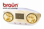 Đèn sưởi nhà tắm Braun KU02PG - 2 bóng vàng