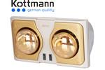 Đèn sưởi nhà tắm Kottmann 2 bóng vàng K2BH  thế hệ...