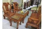 Bộ bàn ghế trạm khắc Minh quốc đào gỗ g.õ đ.ỏ cột...