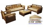 Sofa gỗ phòng khách. Sofa gỗ giá rẻ Vũng Tàu, Nha Trang...