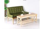 Bộ ghế gỗ sồi bọc da cao cấp cho không gian nhỏ