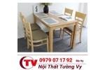 Bàn ghế ăn bằng gỗ giá rẻ Tường Vy TV29
