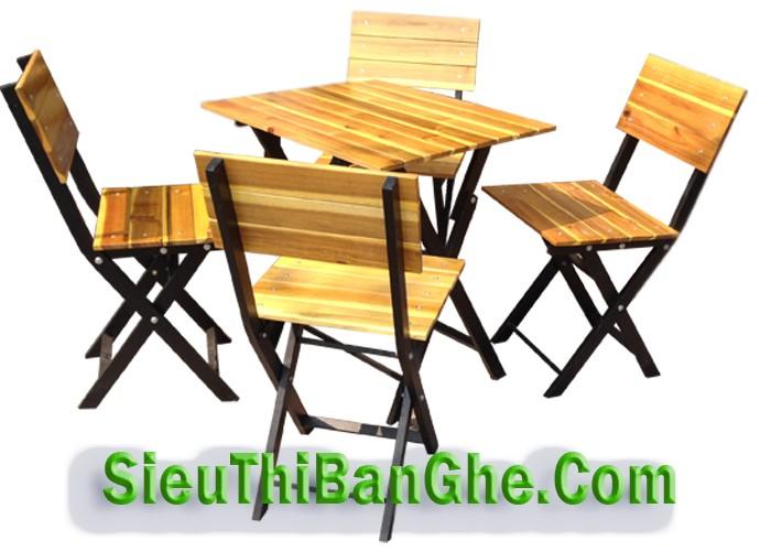 2 Các mẫu bàn ghế chân sắt mặt gỗ đẹp