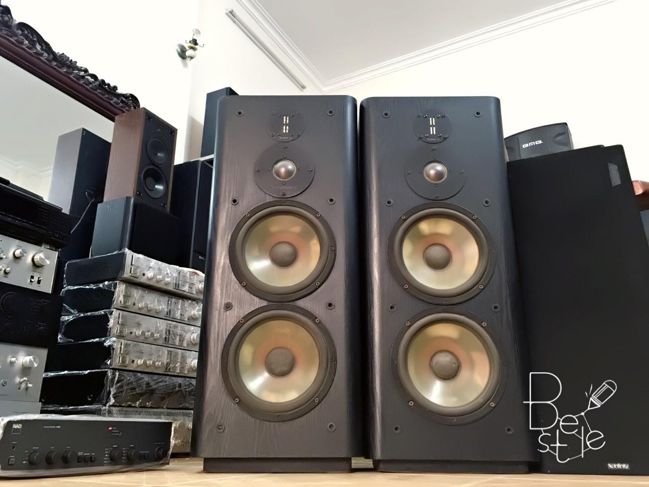 2 Bán đôi loa infinity RS6000 2 bass 25 trung dome tép emit bãi USA tiếng sâu mạnh mẽ